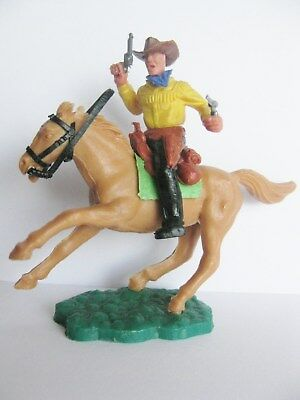 Timpo Toys Mounted Cowboy Saddle Lime Green Horse Pferd 8