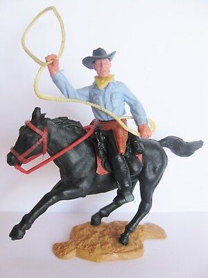 Timpo Toys Mounted Cowboy Horse Pferd 17
