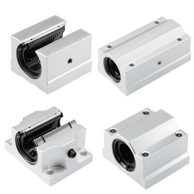 "10mm Chrome Linear 15.7/"" long with 2pcs SCS10UU Block Slide Units Motion Bearing"