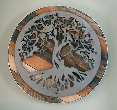 4cdc1f5a054 TREE OF LIFE - Reclaimed Wood   Metal Rustic Wall Art Steel - Multiple  Sizes -  135.00