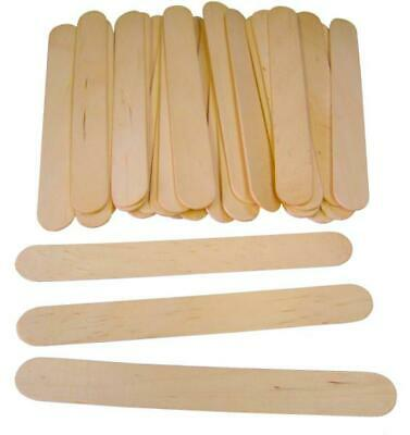 Natural Jumbo Wooden Lollipop Ice Lolly Pop Craft Sticks 150mm x 18mm -  Pk 100
