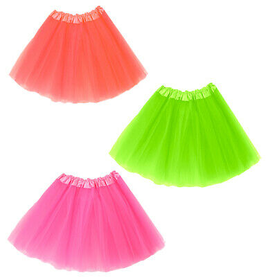 Quality Tutu Skirt Neon Netted Womens Girls Dance Fancy Dress 80S Party Outfit