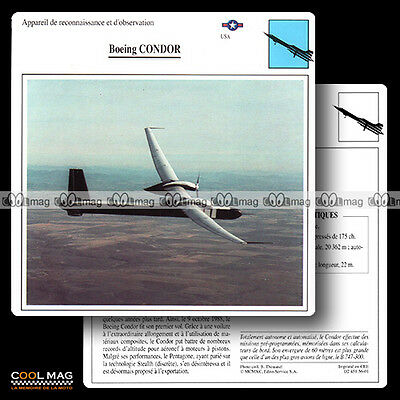 #056.01 BOEING CONDOR - Fiche Avion Airplane Card