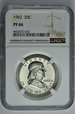 1962 50c Silver Proof Franklin Half Dollar NGC PF 66
