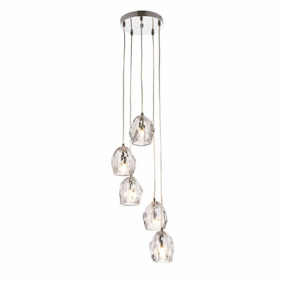 Ornate 5 Light Pendant Chrome Finish