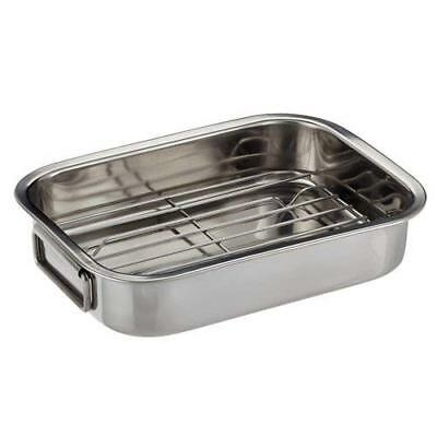 Stainless Steel Roasting Tin with Rack Oven Cooking Kitchen
