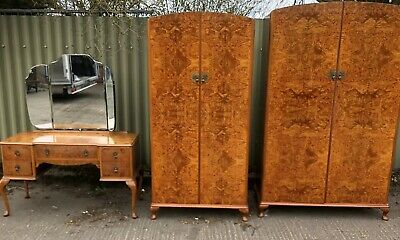 Outstanding Art Deco Walnut 3 Piece Bedroom Set Amazing Veneers We Can Deliver