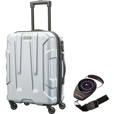 """Samsonite Centric Hardside 20"""" Carry-On Luggage, Silver + Portable Luggage Scale"""