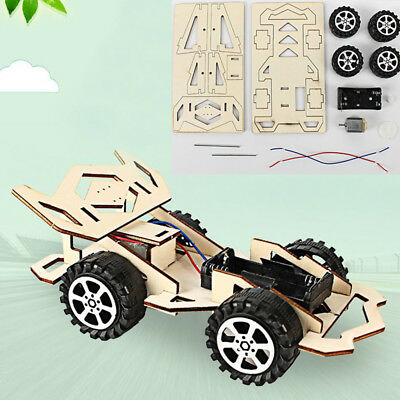 Wooden Assembly DIY Racing Car Model Toy Principle Cognition Teaching Toys HOT