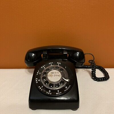 Old Black Rotary Dial Telephone Bell System by Western Electric Untested