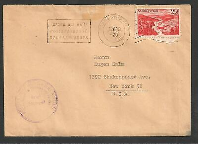 SAAR Sc.C9 on Cover to US 1949