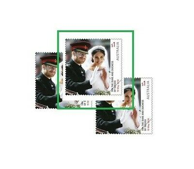 > 2018 THE ROYAL WEDDING, 1 Sheet FRANKED ON PAPER Australian Stamps
