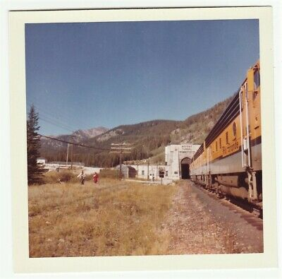 Orig Kodak PHOTO  Moffat Tunnel Denver & Rio Grande Western Railroad 1964 slide?