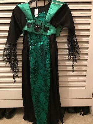 Halloween Worst Witch costume Girl Age 5-7 Dress Up Fancy Dress Black Green