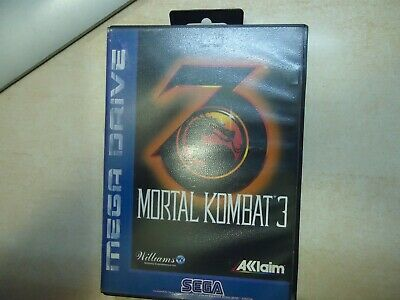 Sega Megadrive Mortal Kombat 3 Game Manual Box Multi Language