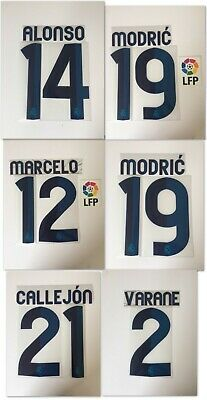 NUMERO REAL MADRID HOME FLOCAGE TRANSFERT SPORTING ID 2015-16 NUMBER