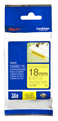 Brother TZES641 TZeS641 label-making tape TZ Black on Yellow tape f/ P-Touch -