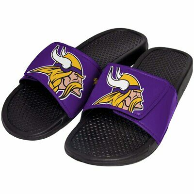 2f35ec3a8b0 Minnesota Vikings Mens Sandals NFL Slide Legacy Water Shoes Flip Flops  Sandal