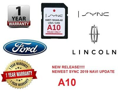 JUST RELEASED Ford & Lincoln A10 SYNC SD Card Navigation Latest 2019 USA Canada