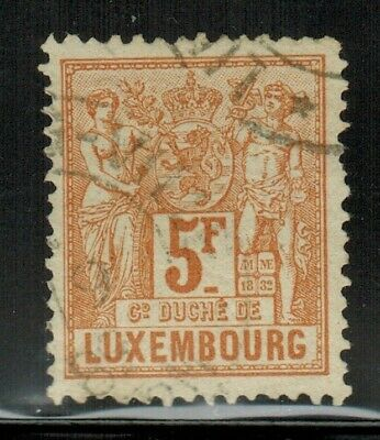 Luxembourg #59 1882 Used