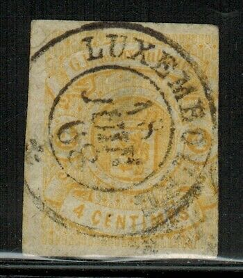 Luxembourg #6 1864 Used