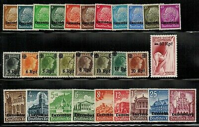 Lot of Luxembourg Under German Occupation Stamps MH/Used