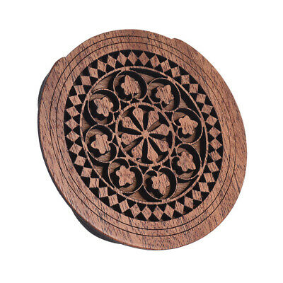 Hot Acoustic Guitar Feedback Buster Fire Soundhole Cover Sound Buffer Wood L6D8