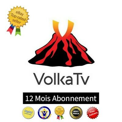 Iptv Volka Pro 2 12 Mois Abonnement +8000 Chaines Vod Box Android Mag M3U Vlc