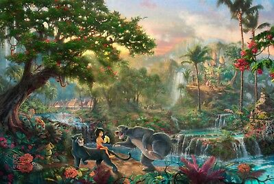 JUNGLE BOOK DISNEY PAINTING CANVAS PICTURE WALL ART medium 20x30 INCHES