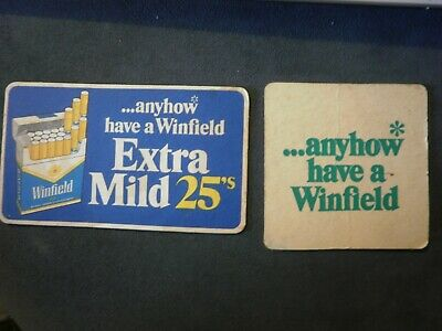 Beer Coasters - Winfield Cigarettes x 2