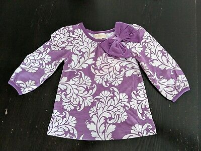 NWT Trish Scully Girl Purple Patterned Top 12-18 Months