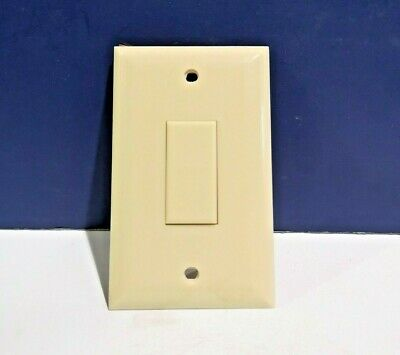 Touch Plate SINGLE GANG IVORY Toggle Switch Built in Wall Plate & WIRE 1400A NEW