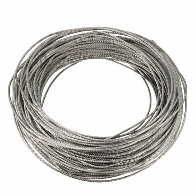 Stainless Steel Wire Rope Cable 2mmx47m 14 Gauge 304 Hoist Grinder Pulley