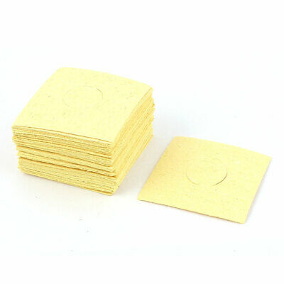 50 Pcs Replacement Soldering Iron Cleaning Sponge 62mm x 62mm x 0.5mm