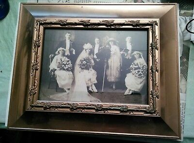 """Antique Arts & Crafts 8 1/2"""" X 10 1/2"""" Copper Lacquered Frame"""
