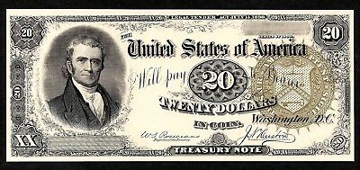 Proof Print or Intaglio by BEP of Face of 1890 $20 Treasury Note  **FREE SHIP**