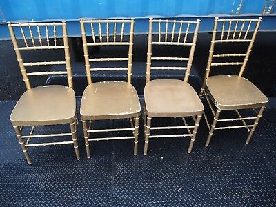 vintage Christmas egg nogg party bamboo 4 Gold Chair Seating catering ballroom