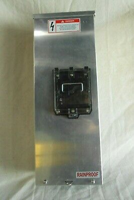 Used Boltswitch 100A 3P 4W Fused Pullout Switch With W/P Enclosure Cat# Enpt363