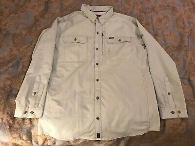 PATAGONIA MENS LS Sol Patrol II Shirt Size L Light Green