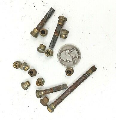 15 Antique Brass Bed Rod Connecting CAP NUTS free ship