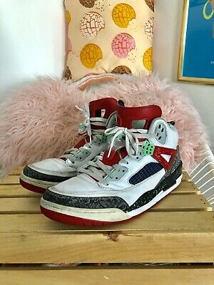 buy online 61a87 585ab Nike Air Jordan Spizike 315371-132 White Red Poison Green Men s Sz 12