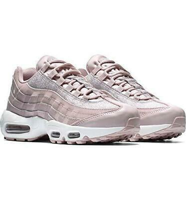 WOMEN'S NIKE AIR Max 95 Size 8 Shoes Rose Glitter Sparkle AT0068 600 NEW