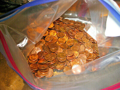 Unsearched Lincoln Memorial Cent Lot.  1960-1990 Bu Unc