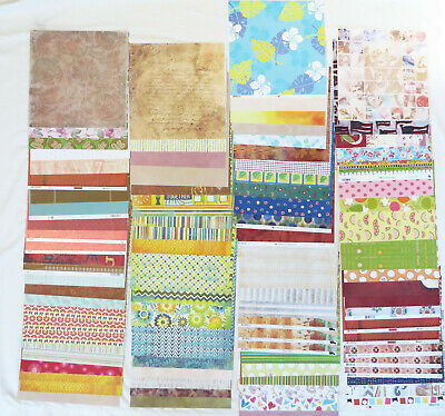 Lot of 100 Scrapbooking Papers - Different Brands - 12 x 12 inches