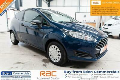2014 14 Ford Fiesta 1.6 Econetic Tdci *rear Parking Sensors* Car Derived Van