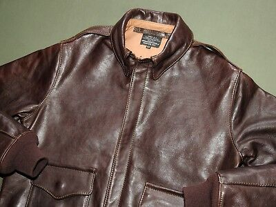 US Army AAF WW2 AERO PILOT EARLY A-2 DARK HORSEHIDE LEATHER FLIGHT JACKET Coat