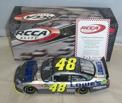 1:24 2011 Action Rcca Elite #48 Lowes Chevy 100Th Ann. Jimmie Johnson Serial #11