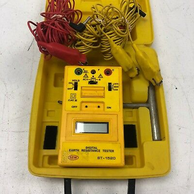 SEW ST-1520 Earth Resistance Tester Meter Tested Working