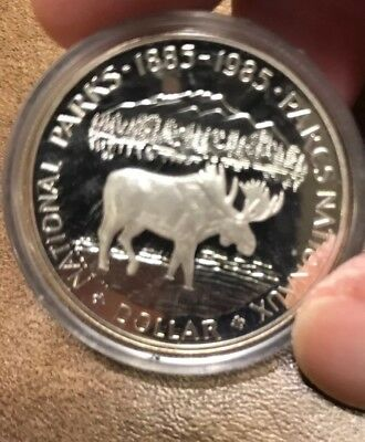 1985 Moose Canadian PROOF Silver Dollar Royal Mint