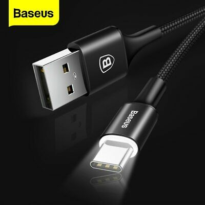 Baseus USB Type C Cable USB-C Cable with Lighting for Samsung Galaxy S10 S9 S8